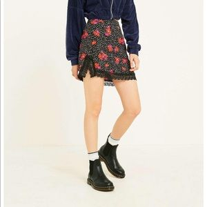 Urban Outfitters UO Lucy Lace Slip Mini Skirt